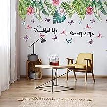 Esmee Art Leaves - Pegatinas de Pared con diseño de Palmeras para salón, Oficina, baño, Cocina, Dormitorio, decoración del...