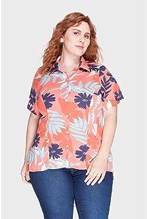Camisa Crepe Run Plus Size