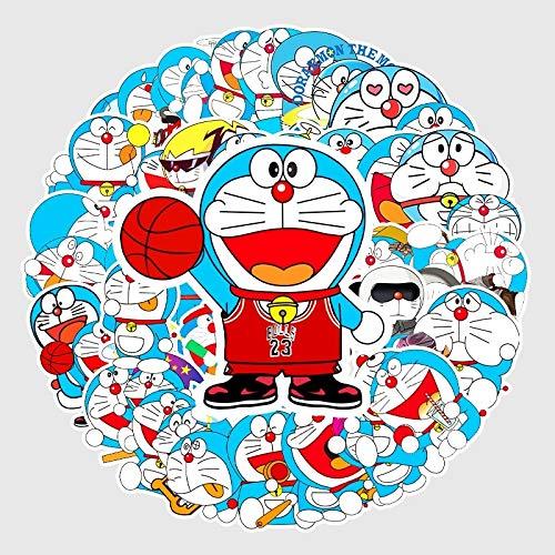 AXHZL Pegatinas Creativas Kawaii De Doraemon Hechas A Sí Mismas, Bonitas Pegatinas, Pegatinas Decorativas Para Manualidades, Pegatinas De Graffiti, 50 Piezas