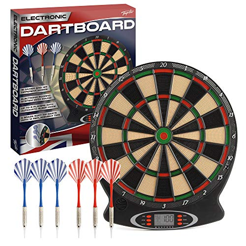 Toyrific Children's Electronic Dartboard with LED Digital Score Display...