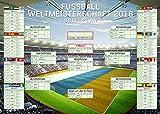 Fußball - XXL-Riesenformat WM Spielplan 2018 Weltmeisterschaft Russland Fussball Poster Plakat Druck - Grösse 140x100 cm Giant-Poster