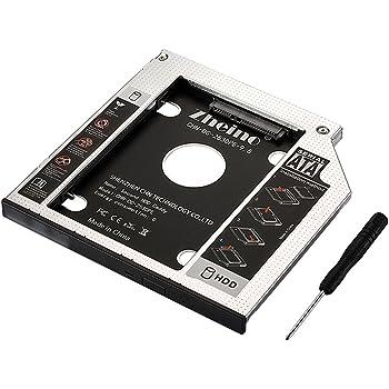 Zheino 9,5mm Aluminio Bahía de disco duro 2.HDD SATA-SATA 3.0 ...