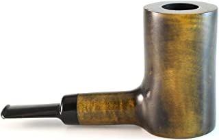Mr. Brog Poker Tobacco Pipe - Model No: 302 Dnaken Duke Brown-Yellow Shades - Pear Wood Roots - Hand Made