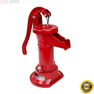 COLIBROX--New Antique Style Heavy Duty Cast Iron Red Well Hand Operated Pitcher Pump 25 Ft. Designed for rugged long life service All parts are made from close grain cast iron for optimum strength.