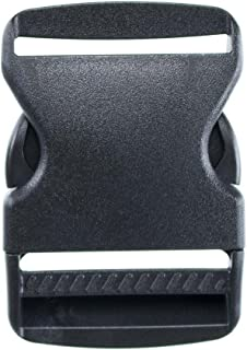 2 Inch Side Release Black Plastic Buckles for Nylon Web Belts, Replacement Buckles, Camping Gear, Backpacks, or Any Other Purpose - Available in Packs of 2, 5, or 10 - by Paracord Planet