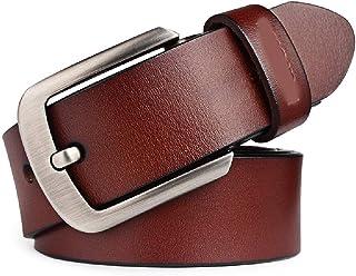 fe290ba9f Elibone genuine cowhide leather belts for men brand Strap male pin buckle  fancy vintage jeans cintos