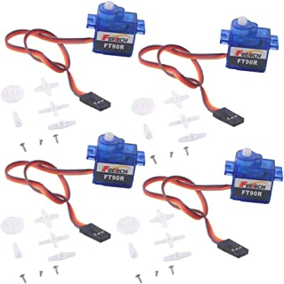 4PCS Digital Servo Feetech FT90R 360 Degree Continuous Rotation Micro RC Servo for Micro:bit Robot 6V 1.5KG PWM