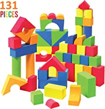 Liberty Imports Creative Educational EVA Foam Building Blocks - Ideal Construction Toys for for Girls, Boys, Toddlers - 131 Pcs