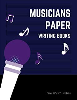 Musicians Paper Writing Books: 6
