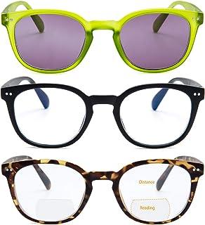Bifocal Computer Reading Glasses with Spring Hinge BlueLight Blocking Women Men