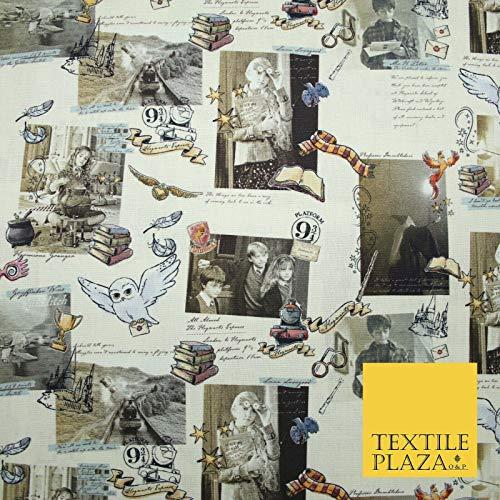 Harry Potter 5160 Tissu 100 % coton Motif carte postale magique 150 cm 1 m