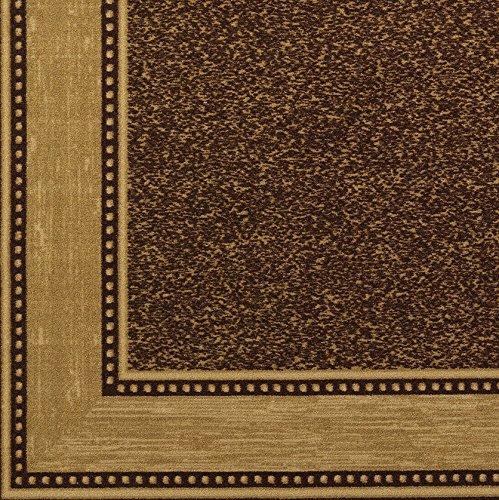 "Ottomanson OTH2208-3X10 Runner Rug, 2'7"" x 9'10"", Chocolate Brown"