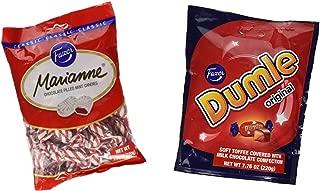 Fazer Candy Bundle - 1 Bag of Fazer Marianne Chocolate Filled Mints and 1 Bag of Fazer Dumle Original Soft Toffee