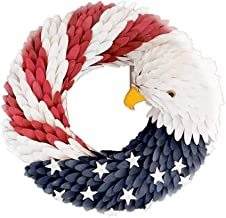 YTXTT Guirlanda patriótica, guirlanda em forma de águia durável, bandeira de guirlanda de águia para porta da frente, deco...