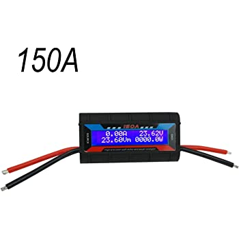 Proshopping 150A RC Watt Meter, High Precision Power Analyzer, DC 0-60V Volt Amp Watt Checker Tester, with Digital LCD Screen- for voltage(V) current(A) Power(W) Charge(Ah) and Energy(Wh) Measurement