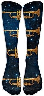 Hunter qiang, Calcetines largos unisex de estilo retro, hasta la rodilla, largos: 50 cm