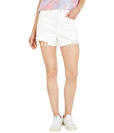 Blank NYC The Reeve High-Rise Denim Shorts with Destruction in Head In The Clouds