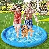 Pecute Splash Pad, Aspersor de Agua Juego Almohadilla para Niños Bebés y Perros