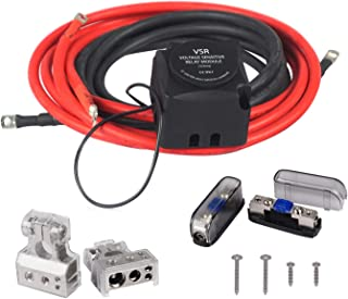 Fister Dual Battery Isolator Kit,Dual Battery Isolator Voltage Sensitive Relay (VSR) Wiring Kit for Ship, Yacht, Off-Road Vehicle, RV