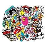 Meloive Autocollants Imperméables [100 pcs] Variété de Vinyle, Décale, Graffiti pour Ordinateur Portable Skateboard Snowboard Bagages Valise Voiture Vélo et Bien Plus