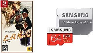 L.A.ノワール 【CEROレーティング「Z」】 - Switch + Samsung microSDXCカード 64GB EVO Plus Class10 UHS-I U3対応 セット