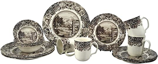 SILVERDALE 16PC DINNER SET ROME BROWN (404RS16)