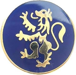 Placcata in oro, motivo: Leone Rampante della Scozia, T206 Lapel Pin Badge
