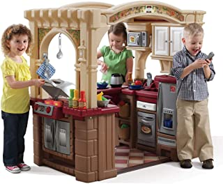 Step2 Grand Walk in Kitchen Pretend Play and Dress-up Toy [Brown and Beige, 821400]