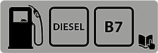 Custom Vinyl Pegatina Tapa Combustible (5x1,6cm) (B7 - Diesel)