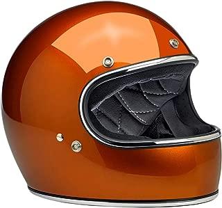Biltwell Inc. Gringo Gloss Hazard Orange Full Face Helmet, 2XL
