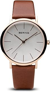 BERING Time 13436-564 Classic Collection Watch with Calfskin Band and Scratch Resistant Sapphire Crystal. Designed in Denmark.