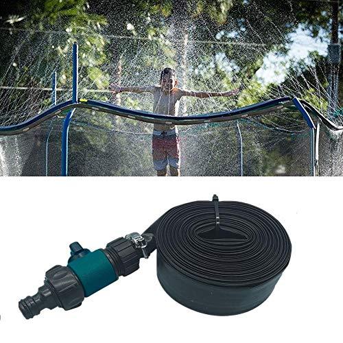 VENTDOUCE Aspersor de trampolín para niños, aspersores de trampolín al Aire Libre para Jugar en el Agua Parque de diversiones Juguetes de jardín de Verano Accesorios - 39 pies