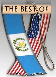 Mini banderines para espejo retrovisor de la bandera de Guatemala y los Estados Unidos para el interior del coche.