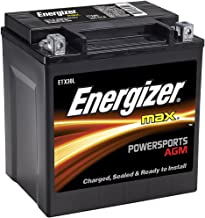 Energizer ETX30L AGM Motorcycle and ATV 12V Battery, 385 Cold Cranking Amps and 30 Ahr.  Replaces: TX30L and others