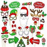 フォトプロップス クリスマス用 変装 写真撮影小道具 パーティー用 宴会用 手軽にインスタ映え 盛り上げグッズ 32点セット