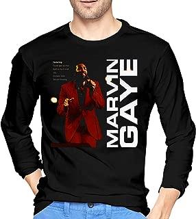 Mens Funny Marvin Gaye Long Sleeve T Shirts Black