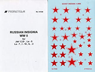 Propagteam Decals 1:32 1:48 1:72 Russian Insignia WWII for Yak-1/3/9 La-5 #01548