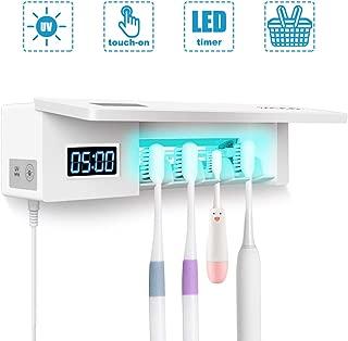 Estuche de Almacenamiento KENANLAN 1 Unidad de desinfectante UV para Cepillo de Dientes esterilizador Soporte de Pared para Cepillo de Dientes Limpiador de Cepillo de Dientes el/éctrico