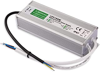 Outdoor LED Transformer, 150W LED Driver to 12 Volt DC Output, IP67 Waterproof LED Power Supply, 90V-250V/12.5A for LED Light, Computer Project, Outdoor Light