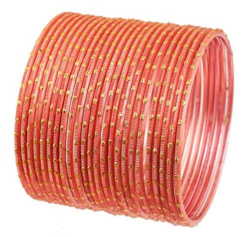 Touchstone 2 Dutzend Armreifsammlungslegierungsmetallstrukturierte rote Designerschmuck-Spezialarmreifarmbänder der Karotte für Damen 2.75 Set 2 groß Carrot Red