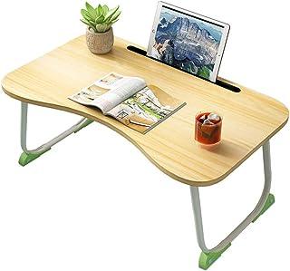 QinWenYan Bureau d'Ordinateur Tables Pliantes Modernes De Table D'ordinateur Portable Compact Plateau Bureau À La Maison B...