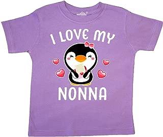 inktastic Grandma Loves Me Cute Penguins Long Sleeve Creeper