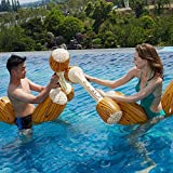 WOSNN Bouée Gonflable Jeu de Combat, 4 pièces de Jouet Flottant Gonflable Jouets de rangée de flotteurs de Combat de Piscine gonflables radeaux de bûche de Bataille