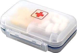 HLYT-0909 Boîte de Rangement Mini Portable Boîte de pilules de Voyage à l'épreuve de l'humidité, Compartiment scellé Penda...