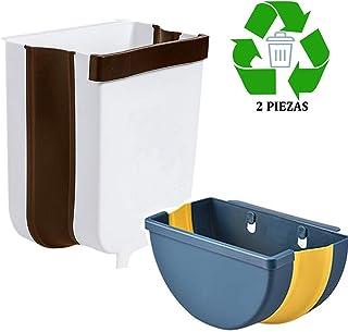 Tosoda Juego de 2 Cubos de Basura Plegable Basurera Papelera Colgante Cubo de Desperdicios Cubo para Reciclaje de Orgànicos para Cocina Baño Oche