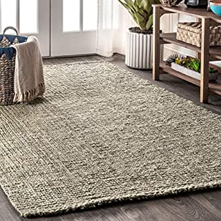 JONATHAN Y Pata Hand Woven Chunky Jute Gray 8 ft. x 10 ft. Area-Rug, Bohemian, Easy-Cleaning, For Bedroom, Kitchen, Living Room, Non Shedding (B07TC73NJV) | Amazon price tracker / tracking, Amazon price history charts, Amazon price watches, Amazon price drop alerts