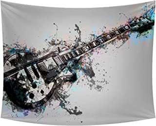Fantasy Electric Guitar Tapestry Bedspread Throw Blanket Home Room Dorm Wall Hanging Décor Sofa Cover Bed Cover Picnic Blankets 90x60 inches