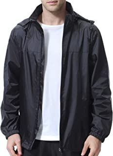 beroy Men Lightweight Windproof Waterproof Jacket with Mesh Liner,Men Windbreaker Cycling Jacket with Side Pockets