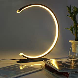 C Sharp LED Desk Lamp, 7.2W Table Lamp with Contemporary Design, Modern Stylish Bedside Reading Light with 3 Dimmable Color temperatures, Touch Controller, Decorative Light for Home & Office