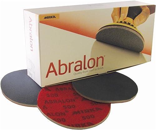 "high quality Mirka 8A-241-500 Abralon 6"" 500 popular Grit Foam Backed Velcro Hook & Loop Polishing & outlet sale Buffing Discs 8A-203-500 Box of 20 Discs sale"